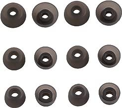 Ear Tips for Jabra Elite 65t Headphone, Rayker Replacement Ear Tips Earbud Covers for Jabra Elite/Active 65t, 6 Pairs, S/M/L (Black)