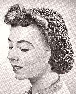 vintage crochet snood pattern free