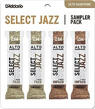 D'Addario Woodwinds D'Addario Select Jazz Alto Saxophone Reed Sampler Pack, 2M/2H (DSJ-J2M)