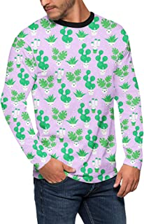 Rainbow Rules Kawaii Cactus Plants Mens Longsleeve Tee