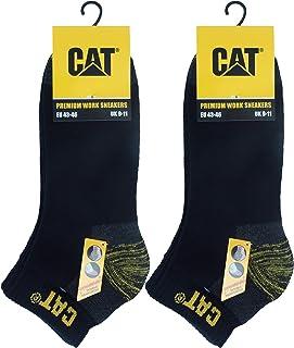 Caterpillar 6 Paires de chaussettes sneaker CAT de sécurité au travail pour hommes, double renfort sur la pointe et le tal...