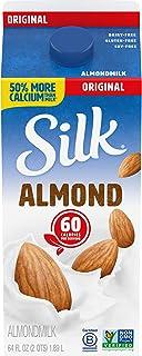 Silk Almond Milk, Original, Half Gallon, 64 oz