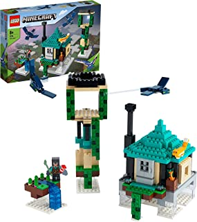 LEGO 21173 Minecraft The Sky Tower Toy for Kids, Building Set with Pilot, Cat & 2 Flying Phantoms Figures, New 2021
