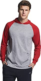 Russell Athletic Men's Lightweight Essential Cotton Hoodie, Oxford/True red, Small