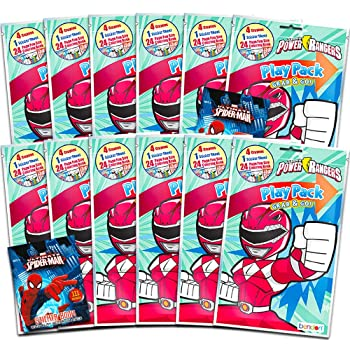 Bundle Includes 6 Premium Superhero Decal Stickers for Laptop Power Rangers Party Supplies Car MacBook Red Ranger Power Rangers Party Favor Decals for Cars Walls Ultimate Set