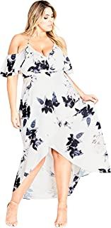 City Chic Women's Apparel Women's Plus Size Maxi Delicate Ruffle