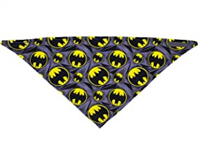 DC Comics Superhero Bandanas for Dogs | Soft Bandanas for Dogs and Puppies in Multiple Sizes | Superman, Batman, Wonder Woman Dog Bandanas