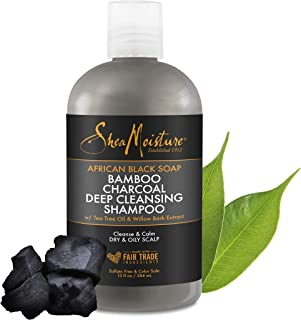 SheaMoisture African Black Soap Bamboo Charcoal Deep Cleansing Shampoo