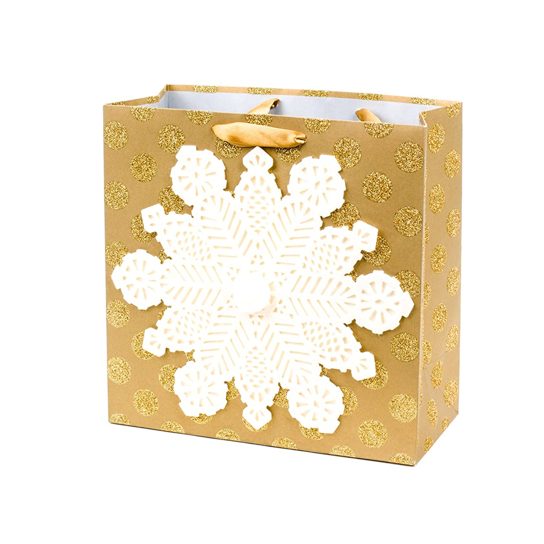 Hallmark Signature Large Square Holiday Gift Bag (Snowflake)