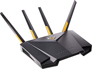 ASUS TUF Gaming AX3000 Dual Band WiFi 6 Gaming Router with dedicated Gaming port, AiMesh for mesh WiFi and AiProtection Pr...