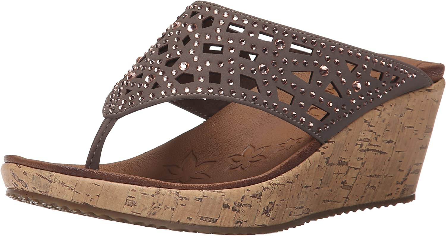 Skechers Cali Recommended 67% OFF of fixed price Women's Wedge Sandal Beverlee-Dazzled