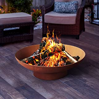 Grillz Outdoor Fire Pit Garden Charcoal Fireplace Patio Heater Vintage Pits 80CM