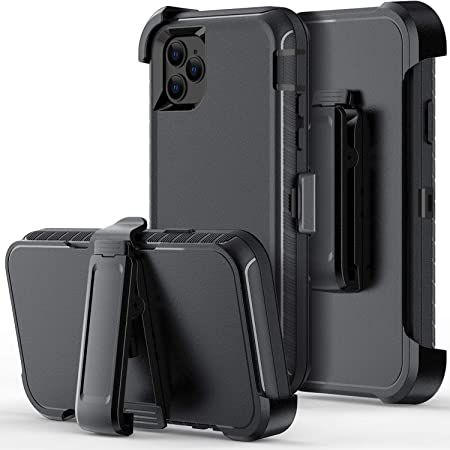 ORIbox Case Compatible with iPhone 11 pro Case, Heavy Duty Shockproof Anti-Fall case with Belt Clip