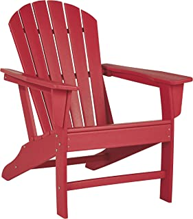 Ashley Furniture Signature Design - Sundown Treasure Outdoor Adirondack Chair - Hard Plastic - Red