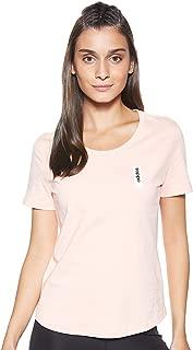 adidas Women's W BRILLIANT BASICS T-Shirt, Pink (Glow Pink), Small, 8-10