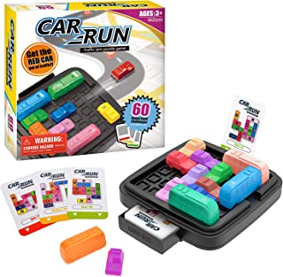 Victostar Car Run Logic Games for Kids Traffic Jam Puzzle Games STEM Toy for Boys and Girls with 60 Challenges Cards & Storage Bag Fun Games for Kids
