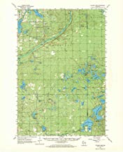 YellowMaps Ellison Lake WI topo map, 1:62500 Scale, 15 X 15 Minute, Historical, 1961, Updated 1971, 21.1 x 17.03 in