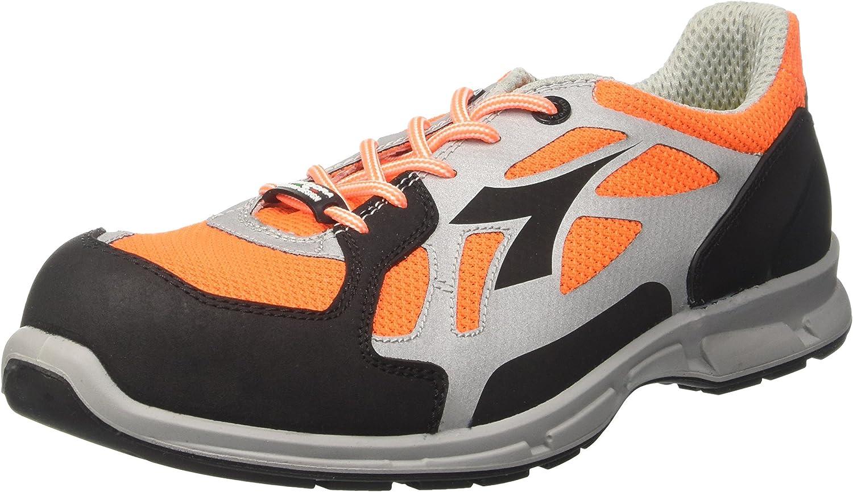 Diadora AdiZero Boston 6, 6, 6, kvinnor kvinnor'65533;s springaning skor, grå (Arancio Fluo  grå), 12 Storbritannien (47 EU)  stödja grossistförsäljning