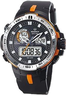 Pasnew Men Digital Watch Men Smart Watch Men Outdoor Sports Watch Military Camouflage Watch with Light Alarm Waterproof Calorie Pedometer Compass Stopwatch Multifunctional Wrist Watches