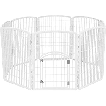 IRIS 34'' Exercise 8-Panel Pet Playpen