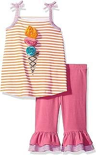 Mud Pie Baby Girls' Two Piece Pants Set Sleeveless, Nautical Crab