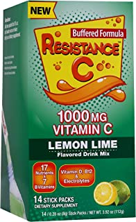 Vitamin C Stick Packs, 16 Nutrients & 7 B-Vitamins, Help Support Immune System, Powerful Antioxidants, Contains Electrolyt...