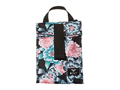 Roxy Lunch Hour Lunch Sack (Anthracite Crystal Flower) Bags