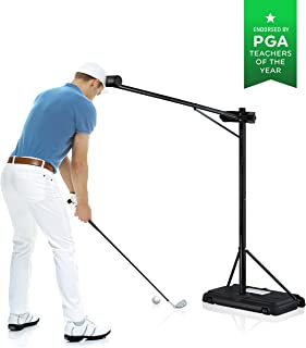 PRO-HEAD Golf Trainer - Golf Swing Training Aid & Correcting Tool for a Straighter and Farther Shot - Practice Indoor & Outdoor - Instant Improvement