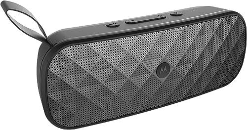 2021 Motorola Sonic Play+ online sale 200 Water Resistant Stereo Bluetooth lowest Speaker - Black online