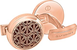 Zino Collection: Cufflinks - 23023 Round Shape Color Rose Gold