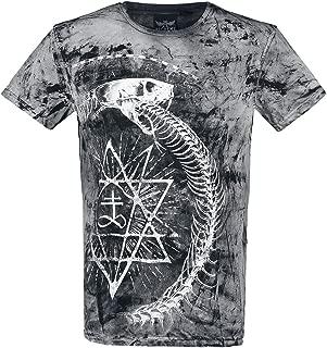 Alchemy England Demons Birth Vintage T-Shirt Manches Courtes Gris fonc/é