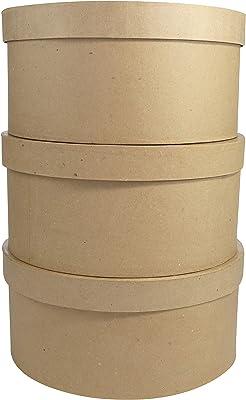 Clairefontaine Juego de 3 cajas de papel maché, color marrón: Amazon.es: Hogar