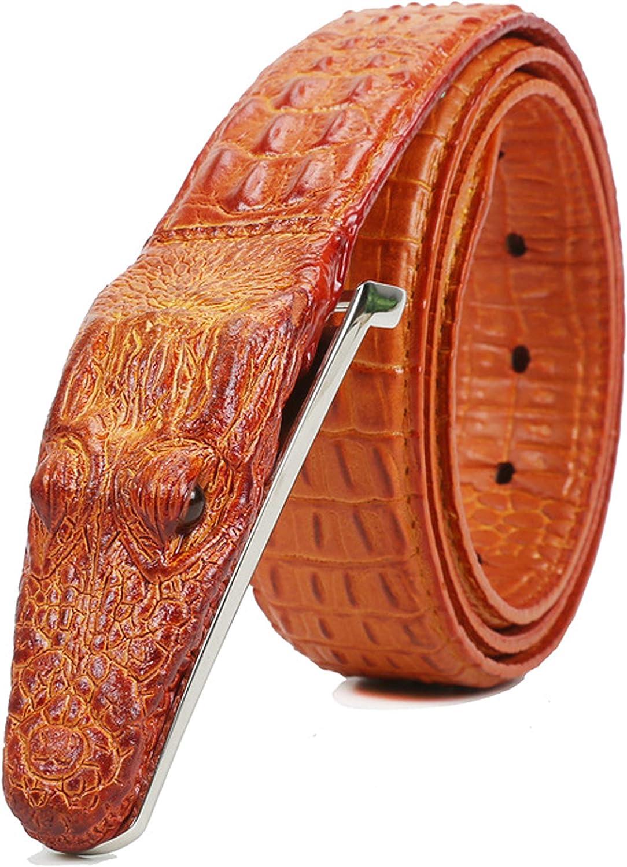 Gift for him. Premium Men\u2019s Belt Unique Belt for men Brown handmade Genuine Alligator Crocodile Leather Skin Men/'s Belt
