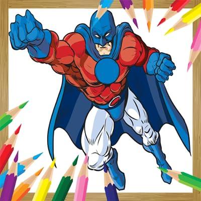 Coloring Book Super Herose For Kids