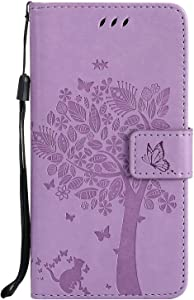 Case  SUMIXON Wallet Book  Stand View  Card Case Cover Magnetic Closure Full Protection Premium Leather Folio Case for G5-Purple 1