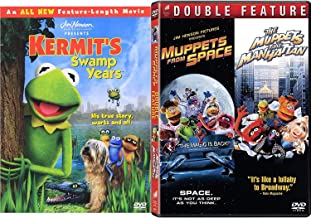 Space Swamp New York the Muppets Triple Feature Kermit Green The Swamp Years Movie + Takes Manhattan & in Space Jim Henson DVD Miss Piggy Fozzie Bear & Friends