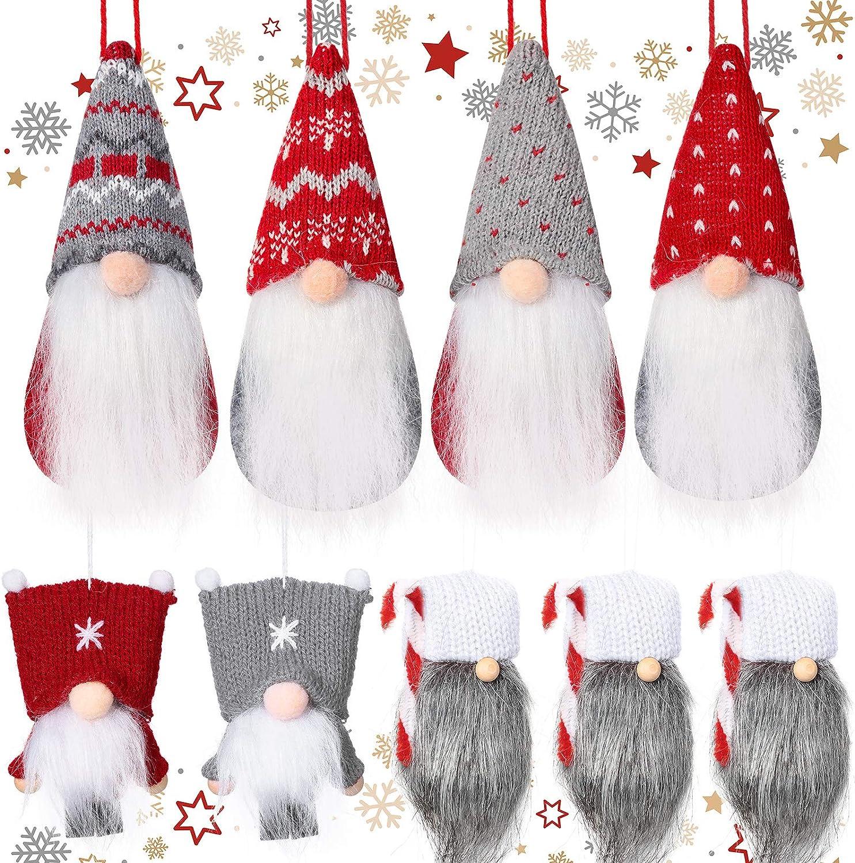 9 Pieces Christmas Tree Hanging Handmade Gnomes Baltimore Mall 4 years warranty Ornament Swedish
