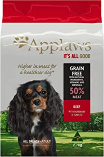 Applaws Beef Dry Dog Food, 2.7kg Bags (Pack of 4)