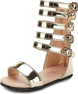48b42e02dca80a UBELLA Toddler Kids Gladiator Sandals Summer Knee High Sandals for Girls