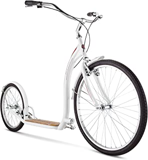 """Schwinn Adult Shuffle Scooter with 26"""" Wheels, White"""