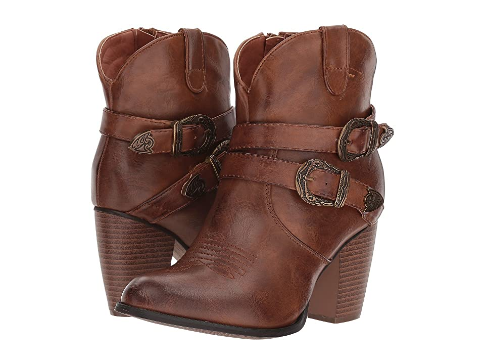 Roper Maybelle (Faux Brown Leather Vamp) Cowboy Boots