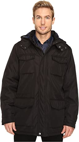 Poly Zip Front with Snap Placket & Removable Hood