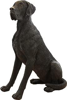 Gartenfigur,Tierfigur Hund Hündin Großer lebensechter Jack Russell sitzend