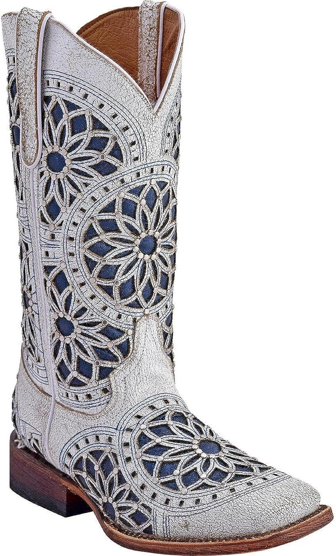 Ferrini Ladies Mandala Square Toe Boots