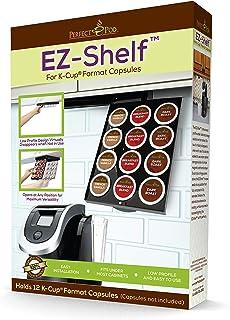 EZ-Shelf K-Cup Pod Holder Under Cabinet Drawer Storage Organizer | Compatible with Keurig Single K Cup Coffee Pod Capsules