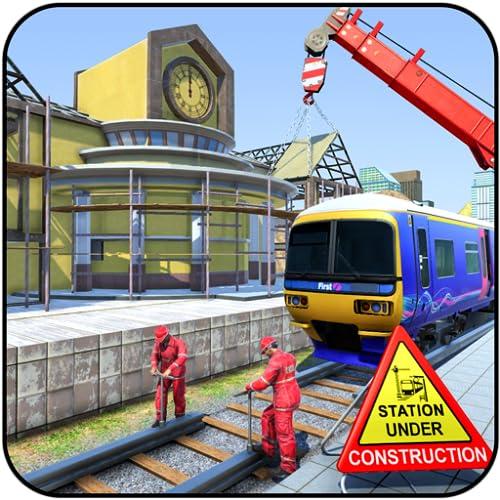 Train station construction building games