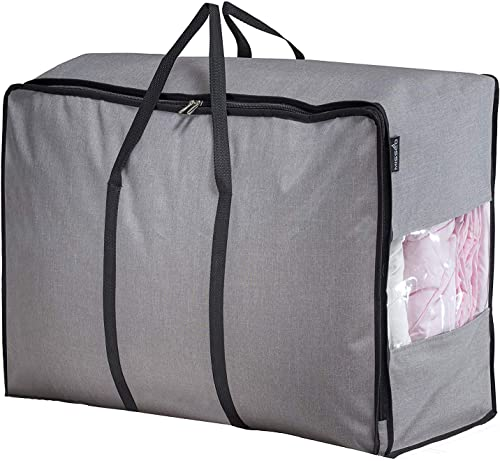 Misslo Water Resistant Thick Over Size Storage Bag, Folding Organizer Bag, Under Bed Storage, College Carrying Bag fo...