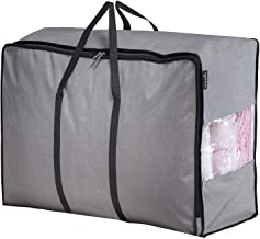 MISSLO Thick Ultra Size Moving Storage Bag for Bedding Comforters, Blanket, Duvets