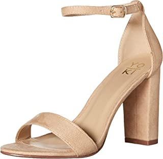 Yoki Women's Fashion Pump, Beige,8 M US