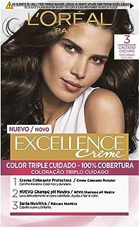 LOréal Paris Excellence Coloración Crème Triple Protección Tono: 3 Castaño Oscuro